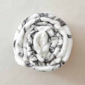 plaid classique effet marbre