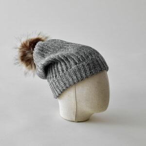 bonnet gris chaud cocooning